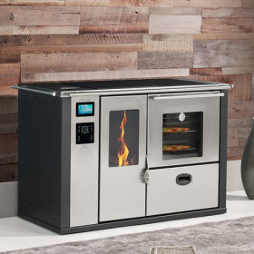 Teba Therm TPW-23 Central Heating Wood and Pellet Cookstove