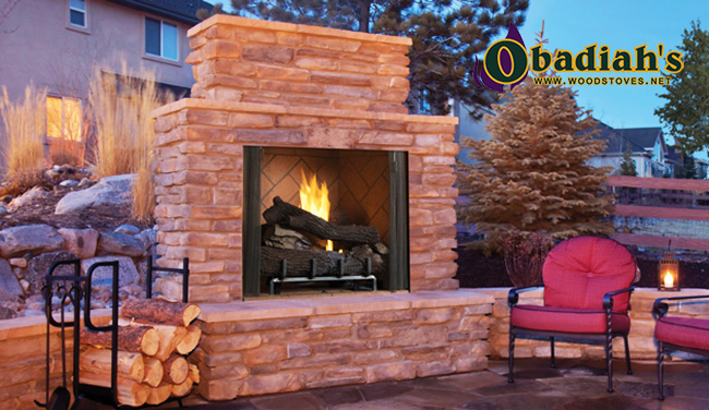 Astria Venetian / Superior VRE6000 Vent Free Outdoor Gas Fireplace