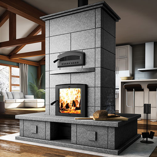 Valcourt FM1500 Mass Wood Fireplace with Oven