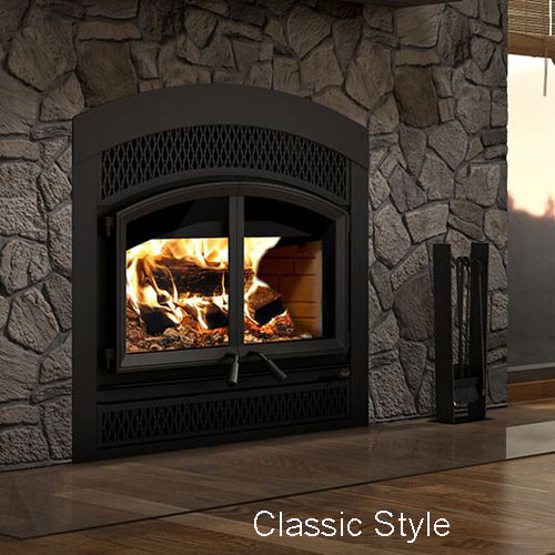 Valcourt Waterloo Arched Wood Fireplace