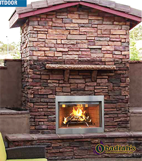 Astria Tuscan / Superior WRE3000 Outdoor Wood Fireplace