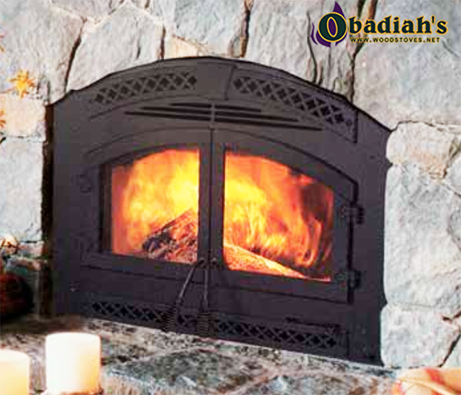 The Heat & Glo NorthStar / Heatilator Constitution EPA Zero Clearance Wood Fireplace offers intense
