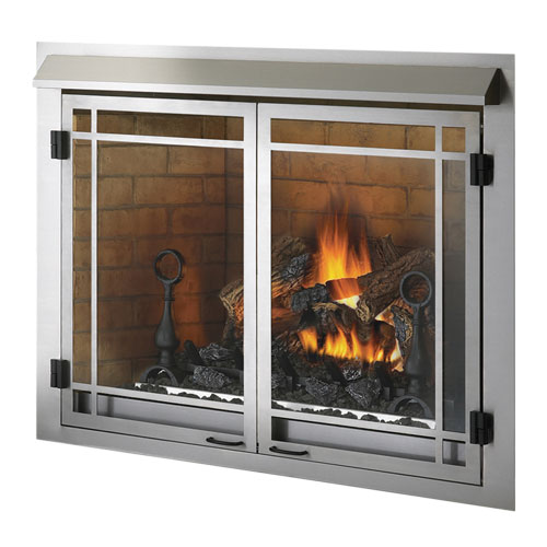 GSS42 Napoleon Stainless Steel Outdoor Fireplace