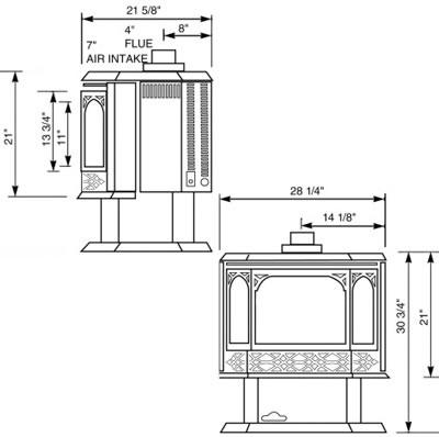 cream enamel multi fuel stoves 8kw