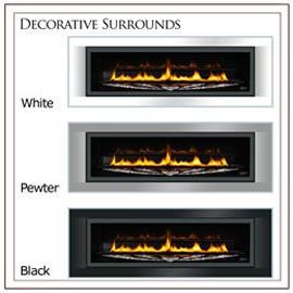 LHD50SS Swarovski Limited Edition Linear Direct Vent Napoleon Gas Fireplace