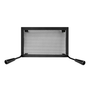 Rigid black firescreen with handles
