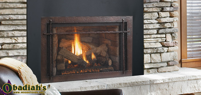 The Napoleon Roxbury 30 Gas Insert fireplace offers 477 square inches of beautiful viewing area through its no-glare glass